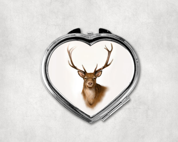 Rannoch Highlands Heart Shaped Compact Mirror