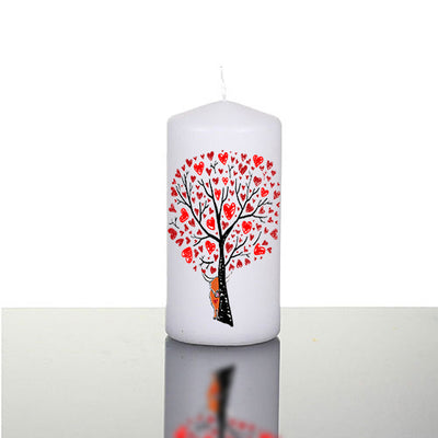 Secret LoveValentine Large Pillar Candle