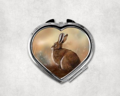 Silent Witness Heart Shaped Compact Mirror