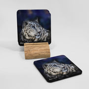 Snow Leopard Coaster