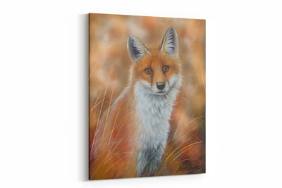 """Spring Fox"" - A4 Standard Canvas Print"