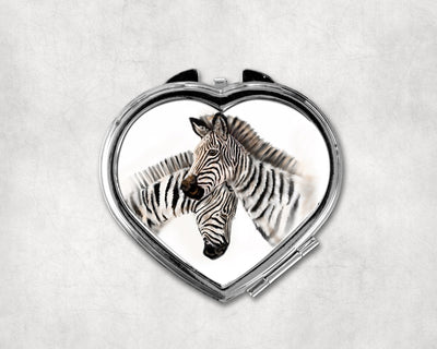 Symphony of Stripes Heart Shaped Compact Mirror