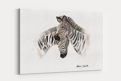 """Symphony Of Stripes"" - A4 Standard Canvas Print"