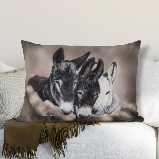 Three Wise Donkeys Lumbar Cushion
