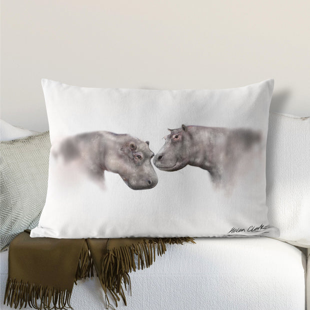 Water Horses Lumbar Cushion