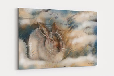 """Winter Hare"" - A4 Standard Canvas Print"