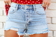 Special A Distressed Mid Rise Denim Shorts