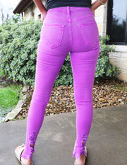 So Bright & Fun Jeans- Purple