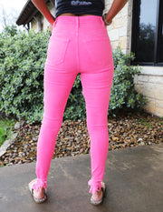 So Bright & Fun Jeans- Pink