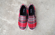 Catch Me If You Can Sneakers- Red Plaid