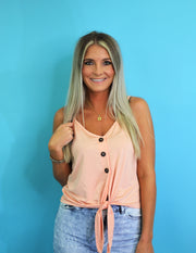 Beach Bound Tank- Blush
