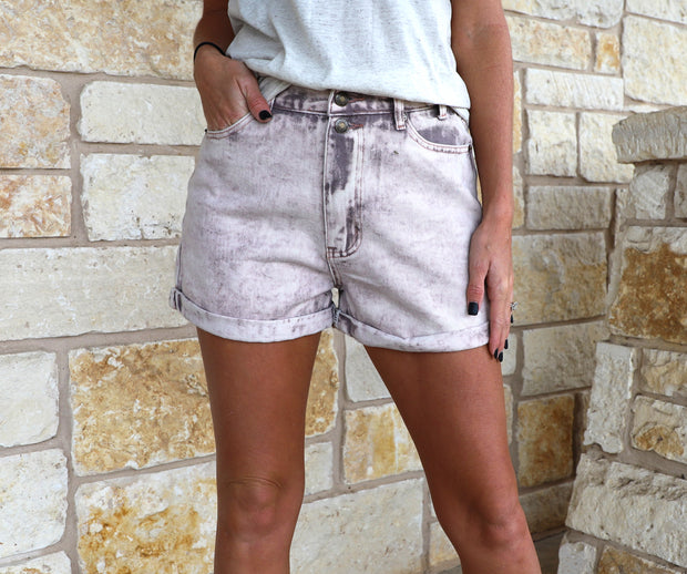 Plum Denim Shorts