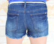 Special A Belted Denim Shorts