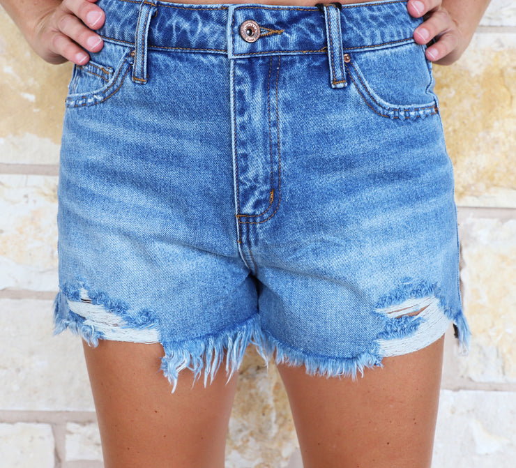 Special A High Rise Girlfriend Distressed Shorts