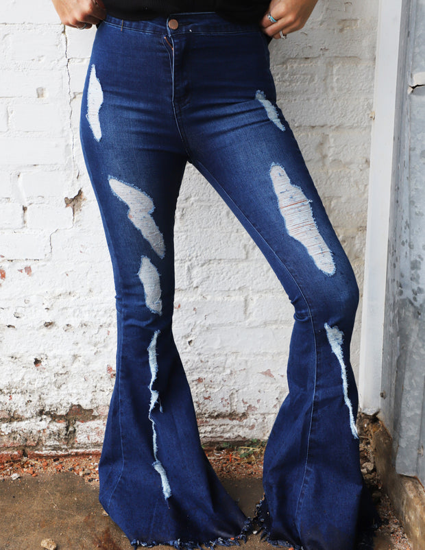 Toast Distressed Flares