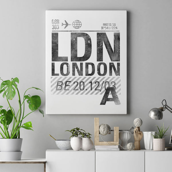 Ldn White Canvas