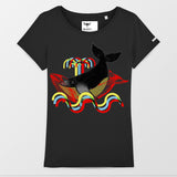 3D WHALE T-SHIRT DONNA SLIM FIT