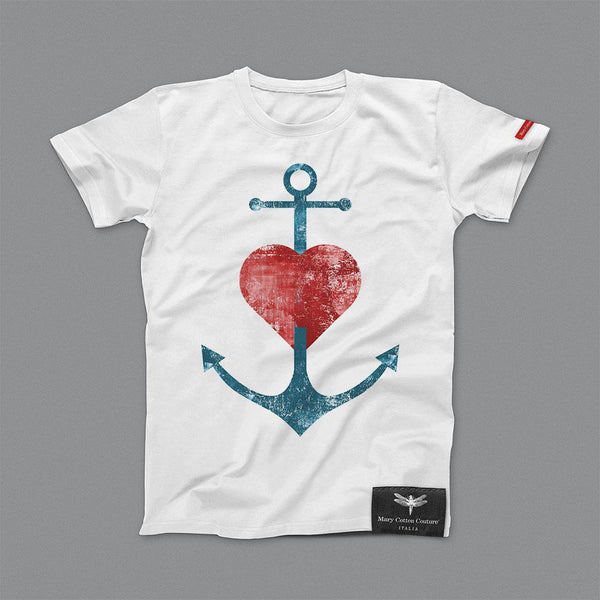 Anchor Heart Kids T-Shirt Bambino