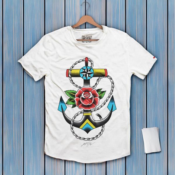 Anchor Flower T-Shirt Uomo T-Shirt
