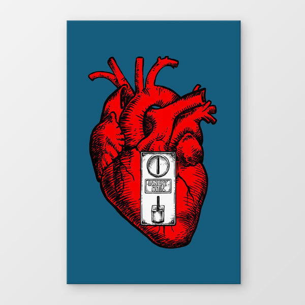 Insert Heart Stampa Su Canvas | Print On