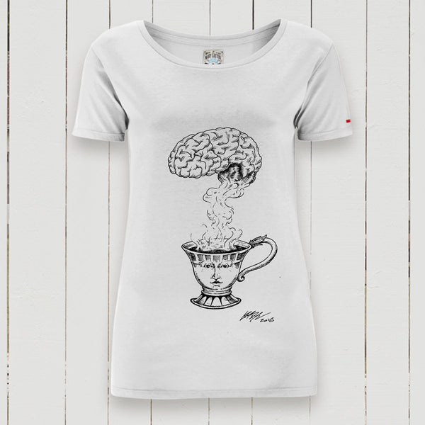 Tea Brain T-Shirt Donna T-Shirt