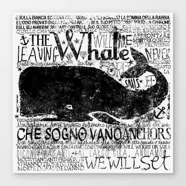 Whale Stampa Su Canvas | Print On