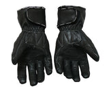 Perrini Full Metal Motorcycle Leather Gloves Racing