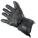 Perrini Racing Pro Biker Bike Motorcycle Racing Motorbike Riding Genuine Leather Gloves