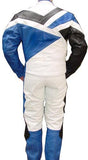 Perrini Venom 2pc Motorcycle Riding Racing Track Suit Drag Suit Blue/Black/White