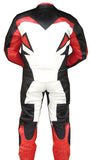 Perrini's Storm 2pc Motorcycle Riding Racing Leather Track Suit with Padding Red