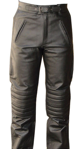 V-Pilot Style Motorcycle Leather Pants