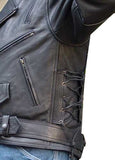 Biker Leather Motorcycle Riding Jacket Thick