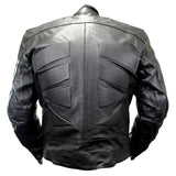Perrini Men's Black Motorcycle Riding Armor Biker Racing Motorbike Riding Genuine Leather Jacket