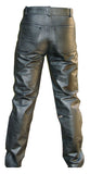 Motorcycle Leather Pants Without Knee seams