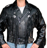 Fringe Motorcycle Riding Leather Jacket
