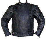 Biker Leather Motorcycle Riding Jacket Vented