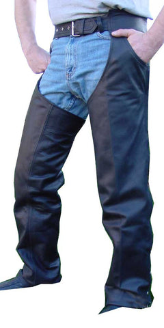 Motorcycle Leather Chaps Fully Lined