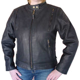 Naked Leather Ladies Motorcycle Jacket