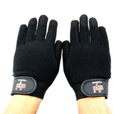 Perrini Black Workout / Weight Lifting / Work Gloves All Sizes S - XXL