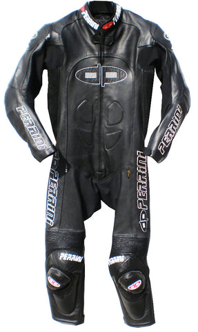 Tornado All Black Color 1PC Motorcycle Racing Leather Suit