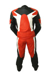 Perrini Ghost 2pc Motorcycle Racing Cow Hide Leather Suit Padding Red/Black/White