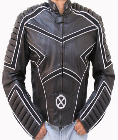 Motorcycle Leather Jacket Racing X-MAN CE Armor