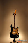 Electric Guitars For Sale Fender Stratocaster Custom Shop Black and Gold American Guitarstore