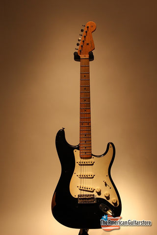 Electric Guitars For Sale Fender Stratocaster Roadworn Black American Guitarstore