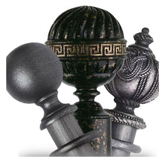 Black Wooden Curtain Poles