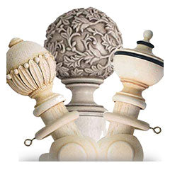 Ivory Wooden Curtain Poles