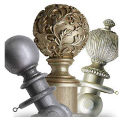 Silver Wooden Curtain Poles