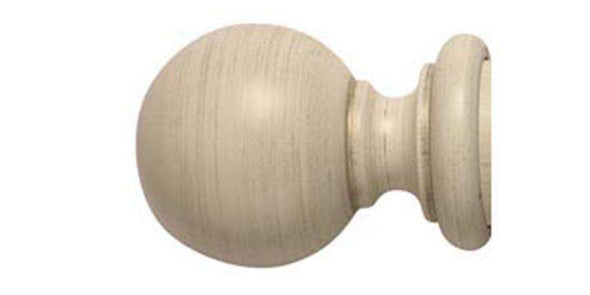 Modern Country 45mm Brushed Cream Curtain Pole Ball Finial-Curtain Poles Emporium