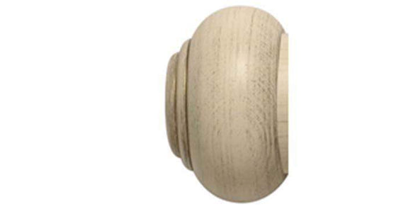 Modern Country 45mm Brushed Cream Curtain Pole Button Finial-Curtain Poles Emporium