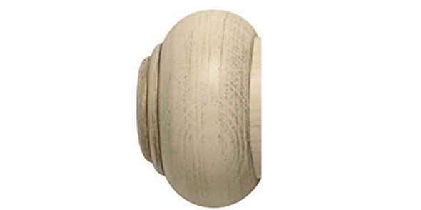 Hallis Modern Country 55mm Brushed Cream Pole Button finial - Curtain Poles Emporium